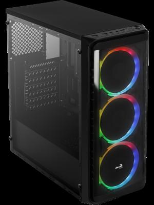Aerocool SI-5200 RGB 750W 80+ Bronze 4x12cm Adreslenebilir RGB Fanlı Güçlendirilmiş Camlı Yan Panel USB 3.0 Mid Tower Siyah Oyuncu Kasası