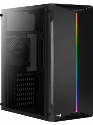 Aerocool Split RGB Full Acrylic 500W Midi Tower Siyah Kasa