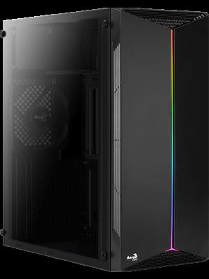 Aerocool Split RGB Full Acrylic Mid Tower Siyah Kasa