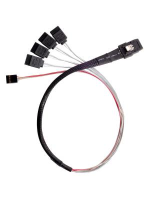 SilverStone CPS03 1xMini SAS SFF-8087 36Pin - 4x SATA 7Pin 50cm Dahili Kablo