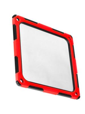 SilverStone 12cm Titreşim Önleyici Silikonlu Kırmızı/Siyah Fan Filtresi