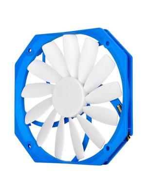 SilverStone FW141 12cm Yuva için 13mm Ultra İnce 14cm Mavi-Beyaz Kasa Fanı