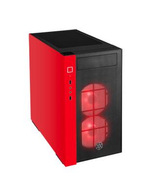 Silverstone Redline RL08BR RGB Kırmızı/Siyah Micro-ATX/Mini ITX Kasa