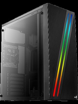 Aerocool Streak RGB Full Acrylic Midi Tower Siyah Kasa