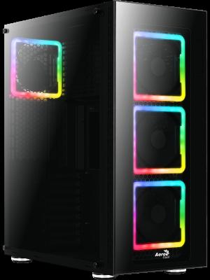Aerocool TOR Pro 1200W 80+ Bronze USB 3.0 4 x Adreslenebilir RGB Fanlı Full Tower Siyah Kasa