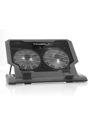 """TX ErgoDUO 14cm Dual LED FAN'lı ,5 x Yükseklik Ayarlı,2 x USB HUB'lı, 11""""-17"""" Notebook Soğutucu ve Stand"""