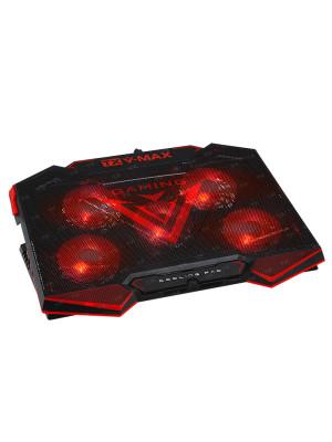 "TX V-MAX 5x LED'li Fan, 6x Yükseklik Ayarlı,2x USB HUB'lı, 11""-17"" Analog Fan Kontrolcülü, Notebook Soğutucu ve Stand"