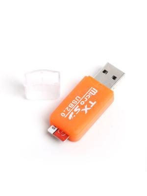 TX UCR204OR USB 2.0 MicroSD Kart Okuyucu - Turuncu