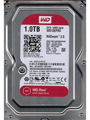 "WD 1TB Red 3,5"" SATA III 6Gbit/s IntelliPower 64MB Cache NAS 7/24 (WD10EFRX)"