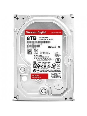 WD 8TB 3.5'' Red NAS 256MB 5400RPM SATA 3.0 Disk (WD80EFAX)